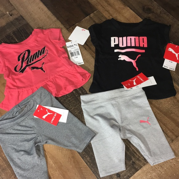 Puma Girls New 2pc Outfit Set size 12 months 18 months Nwt